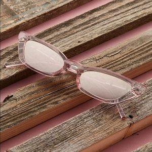 Pink Mirrored Cat Eye Sunglasses